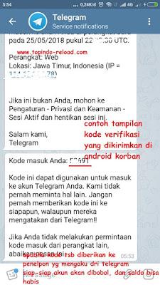 contoh kode verifikasi telegram by admin topindo