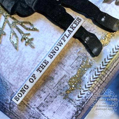 Sara Emily Barker https://sarascloset1.blogspot.com/2019/12/quick-christmas-cards-with-tim-holtz.html Mixed Media Christmas Cards #timholtz #stamperia 5