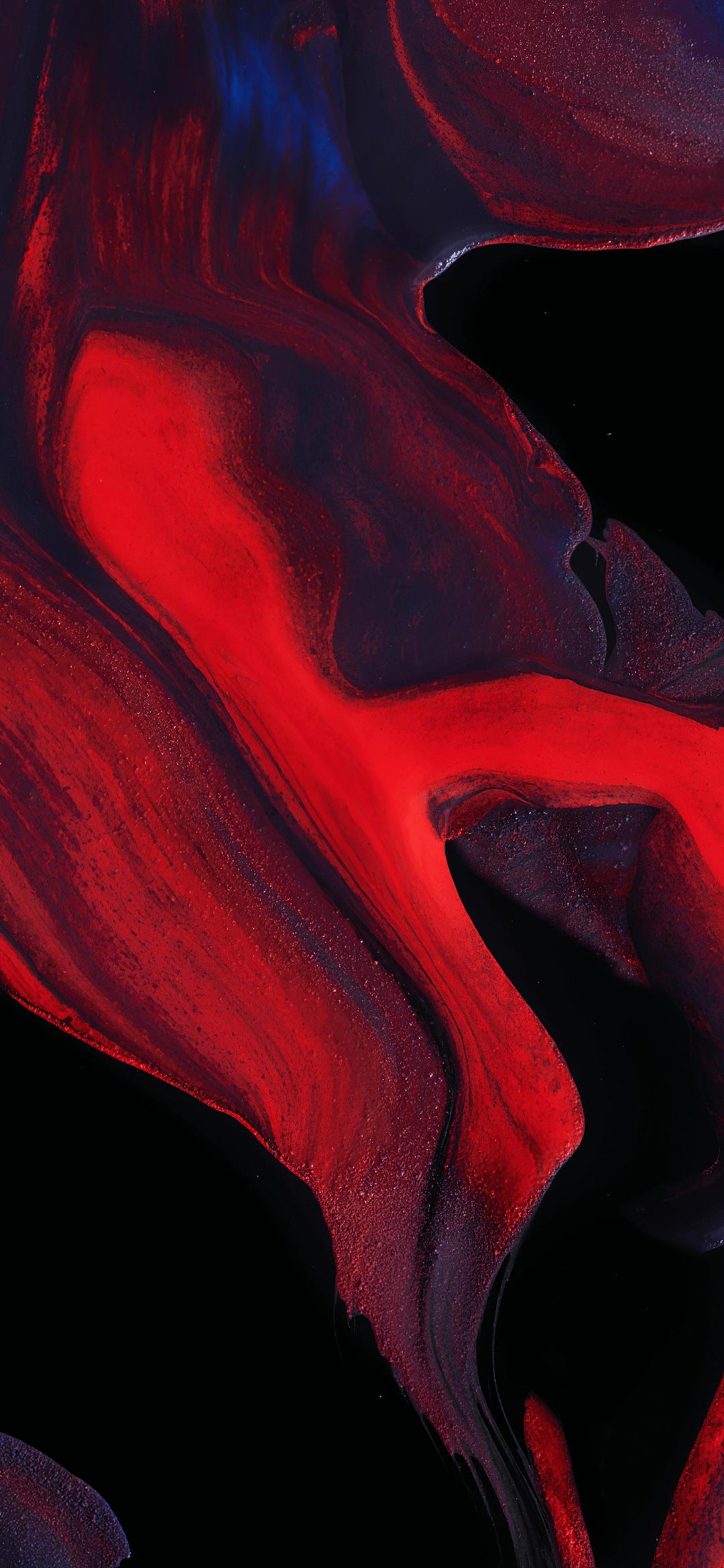 Android 10 red abstract wallpaper
