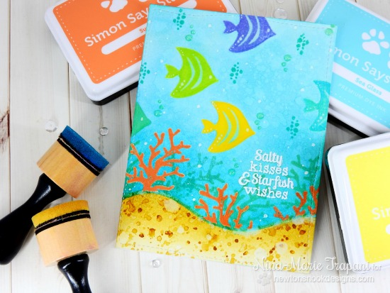 Under the Sea Card by Nina-Marie Trapani | Tranquil Tides stamp set by Newton's Nook Designs #newtonsnook