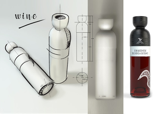 Romanian Wine Bottle Design