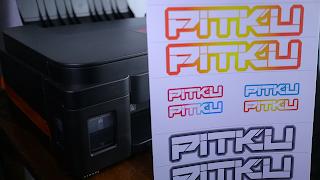 Cara membuat stiker decal untuk sepeda mtb dengan printer canon g2010 tinta ori dan kertas vinyl
