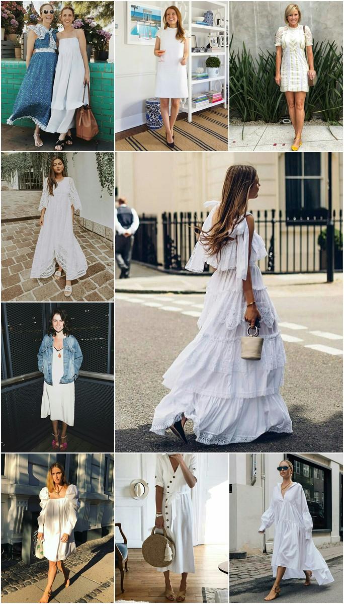 50 ideias de looks com vestido branco para a virada do ano