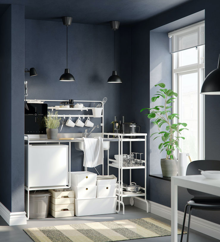 Cocina básica y pequeña portátil del catálogo 2021 de IKEA.