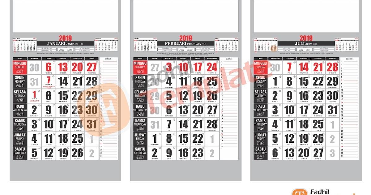 Terbaru 60+ Desain Kalender 2020 Vector