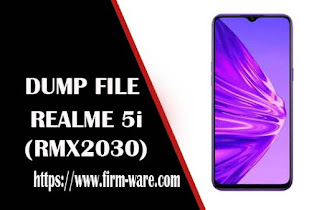 Realme 5i RMX2030 eMMC Dump File Firmware Tested
