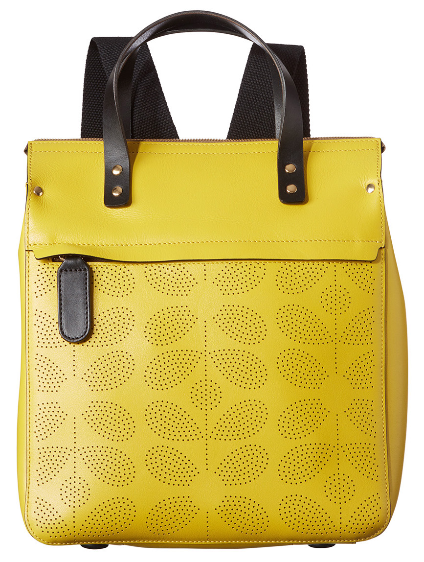 1a20cc61b454 I Love Orla Kiely  Orla Kiely SS16 Mainline  Sixties Stem Punched Leather  in Black and Yellow