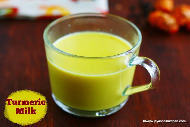 Turmeric- milk recipe