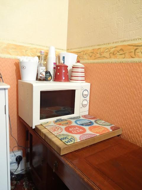 mock up kitchen during renovation