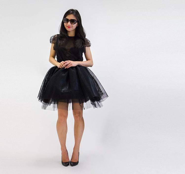 Black Tulle