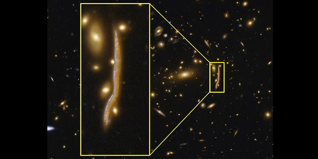 The cosmic snake as observed by the Astronomic Institute of the University of Geneva. (Image: Université de Genève)