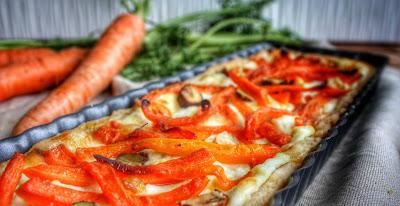 Torta salata con carote e brie