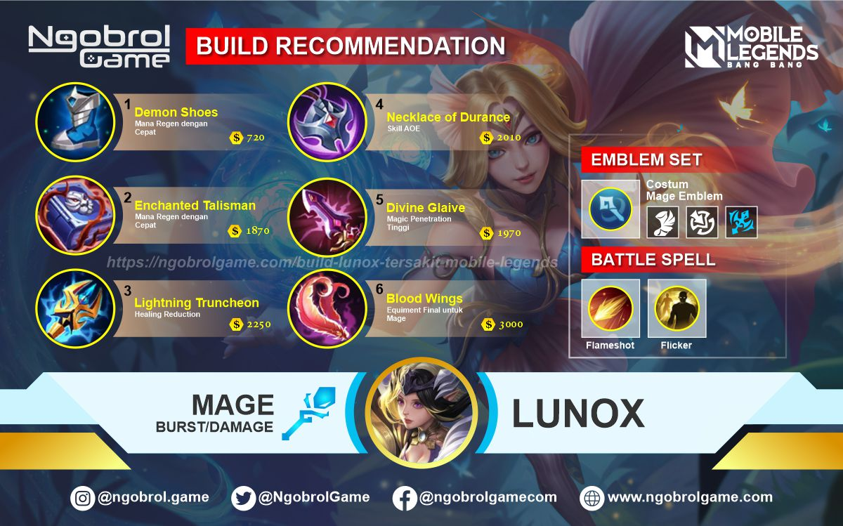 Build Lunox Savage Mobile Legends