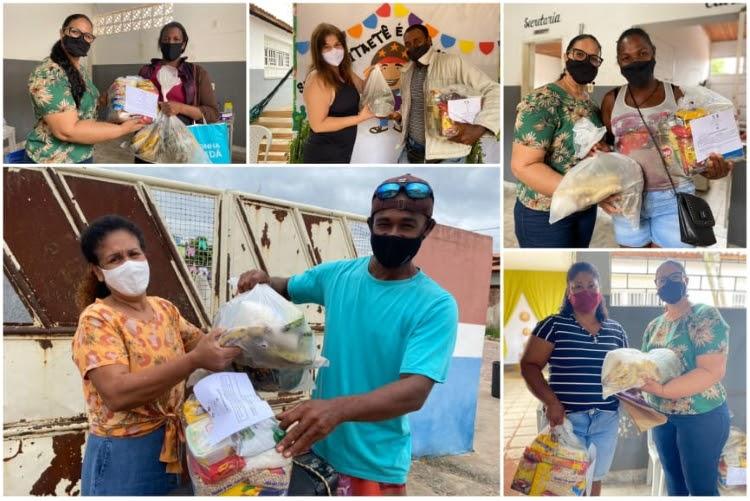 """Prefeitura de Itaetê entrega """"Kit Merenda"""" aos alunos da rede municipal de ensino"""