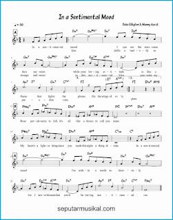 chord in sentimental mood lagu jazz standar