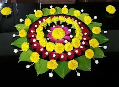 leaves in the shape of rangoli