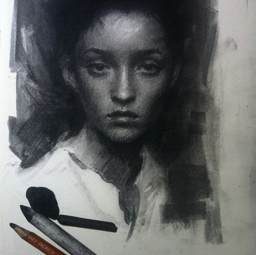 11-Casey-Baugh-Portrait-Drawings-of-Charcoal-Studies-www-designstack-co