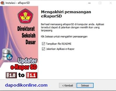 Cara Install e-Rapor SD Versi 1.1