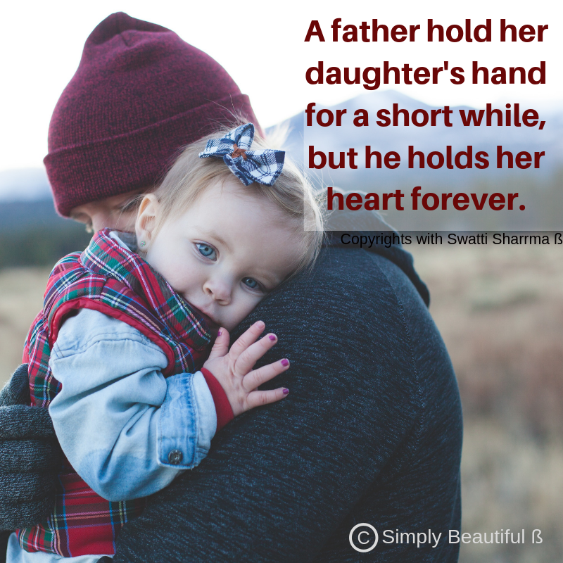 Quotes on father and daughter.