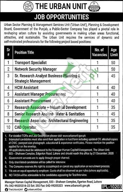 urban-unit-lahore-jobs-2020-online-application-form-download