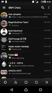 BBM MOD BLACK v3.1.0.13 APK Versi Terbaru with Full DP