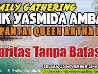 Desain Banner Family Gathering Queen Artha Lampung SMK Yasmida