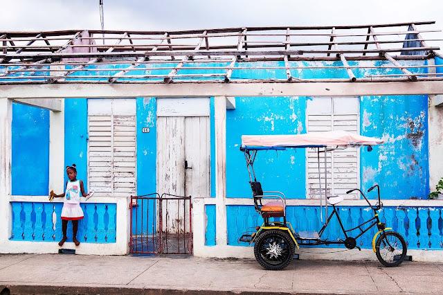 A Cuban street scene in Baracoa, Guantanamo, Cuba