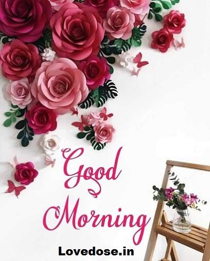 Lovely good morning flower image