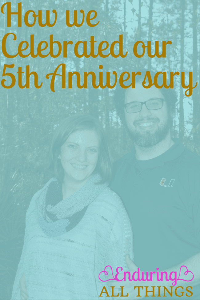 How we celebrated our 5th anniversary. Spoiler alert: we celebrated all week
