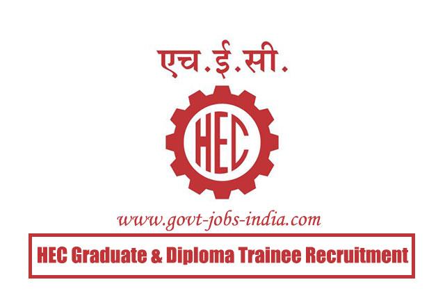 HEC Graduate & Diploma Trainee Recruitment 2020 – 169 Graduates & Technician Trainee Vacancy – Last Date 25 April 2020
