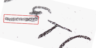 Image of micro code found on Somerton Man code page, letter S from the last line