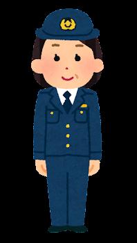 警察官のイラスト(女性・パンツ・中年)