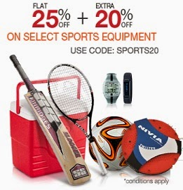 Sports Products: Flat 25% Off + Extra 20% Off on Sports Goods, Clothing & more @ Amazon