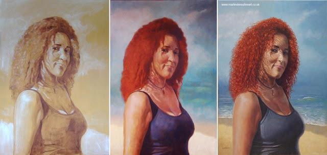 stages of Julie Diaz figure artwork