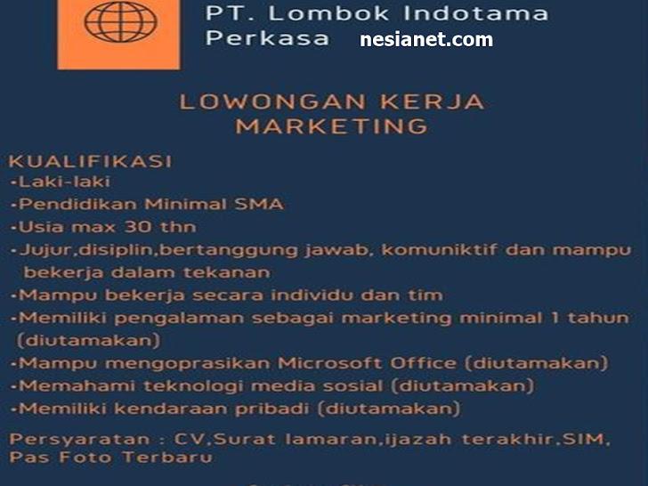 Lowongan Kerja PT Lombok Indotama Mataram Lombok NTB