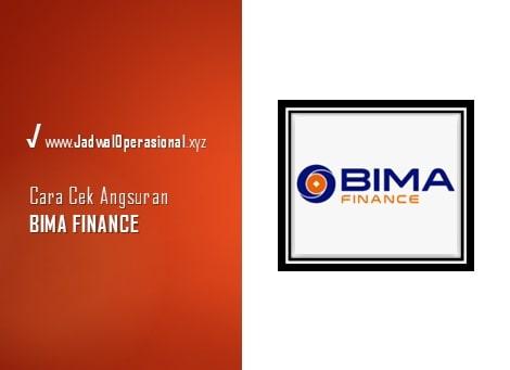 Cek Angsuran Bima Finance