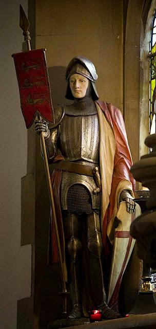 São Jorge foi um modelo inspirador do cavaleiro andante. Igreja de S. Jorge, Hanworth, Inglaterra