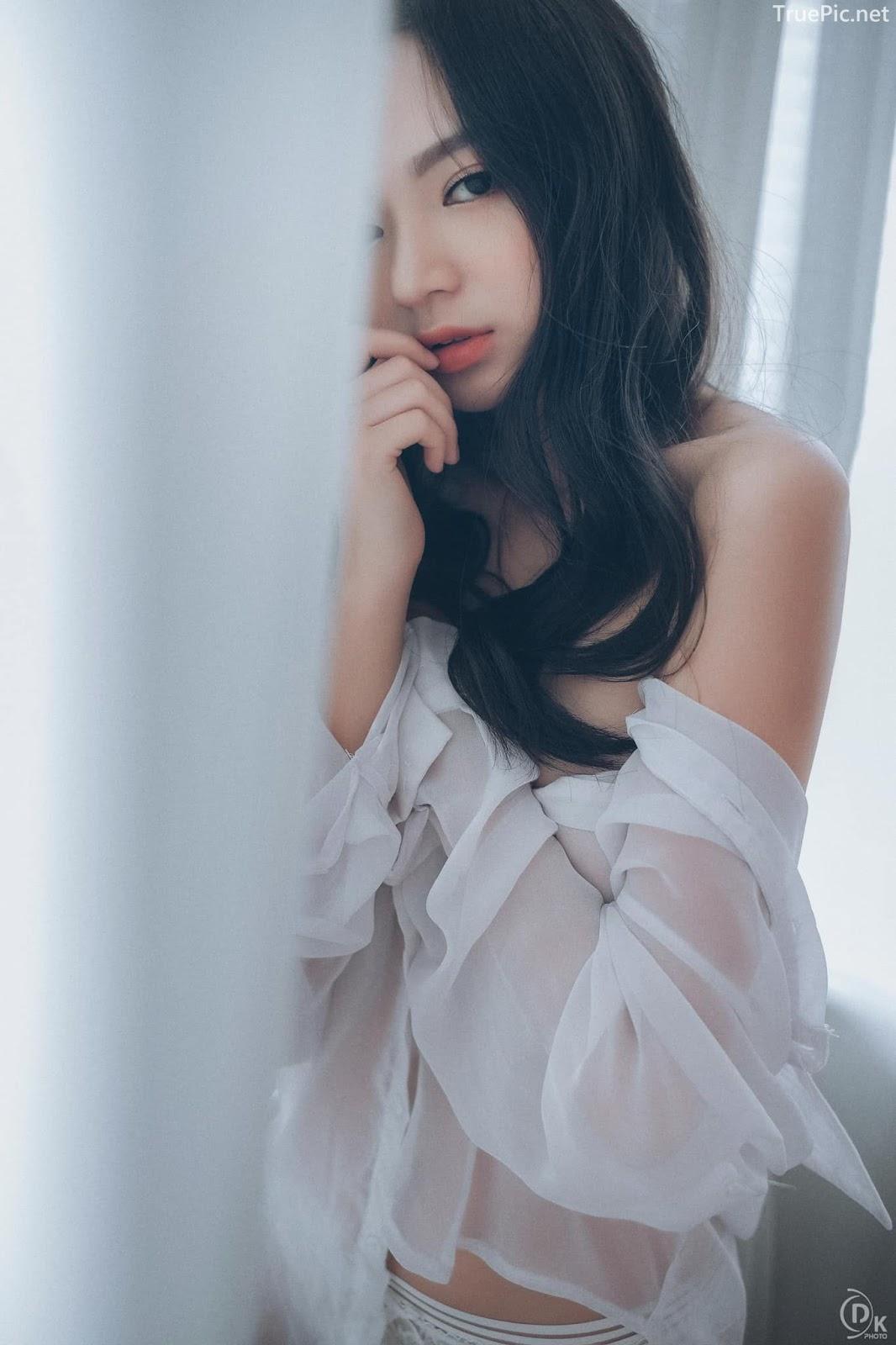 Vietnamese Sexy Model - Vu Ngoc Kim Chi - Beautiful in white - TruePic.net- Picture 14