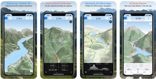 Maps 3D Pro - تطبيقات المشي لمسافات طويلة للمغامرات
