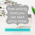 Writing Wednesdays: Free writing tools you can start using today