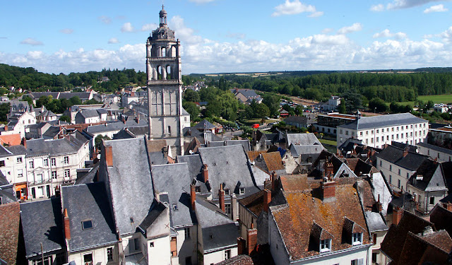 Loches.  Indre et Loire, France. Photographed by Susan Walter. Tour the Loire Valley with a classic car and a private guide.