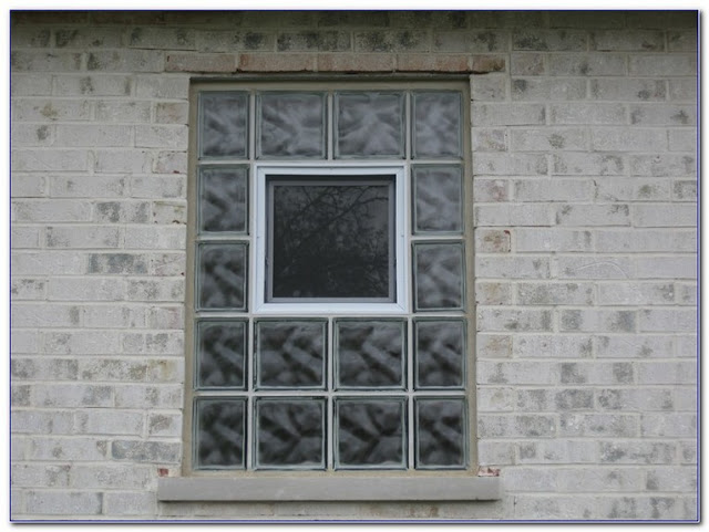 Block GLASS WINDOWS basement bathroom