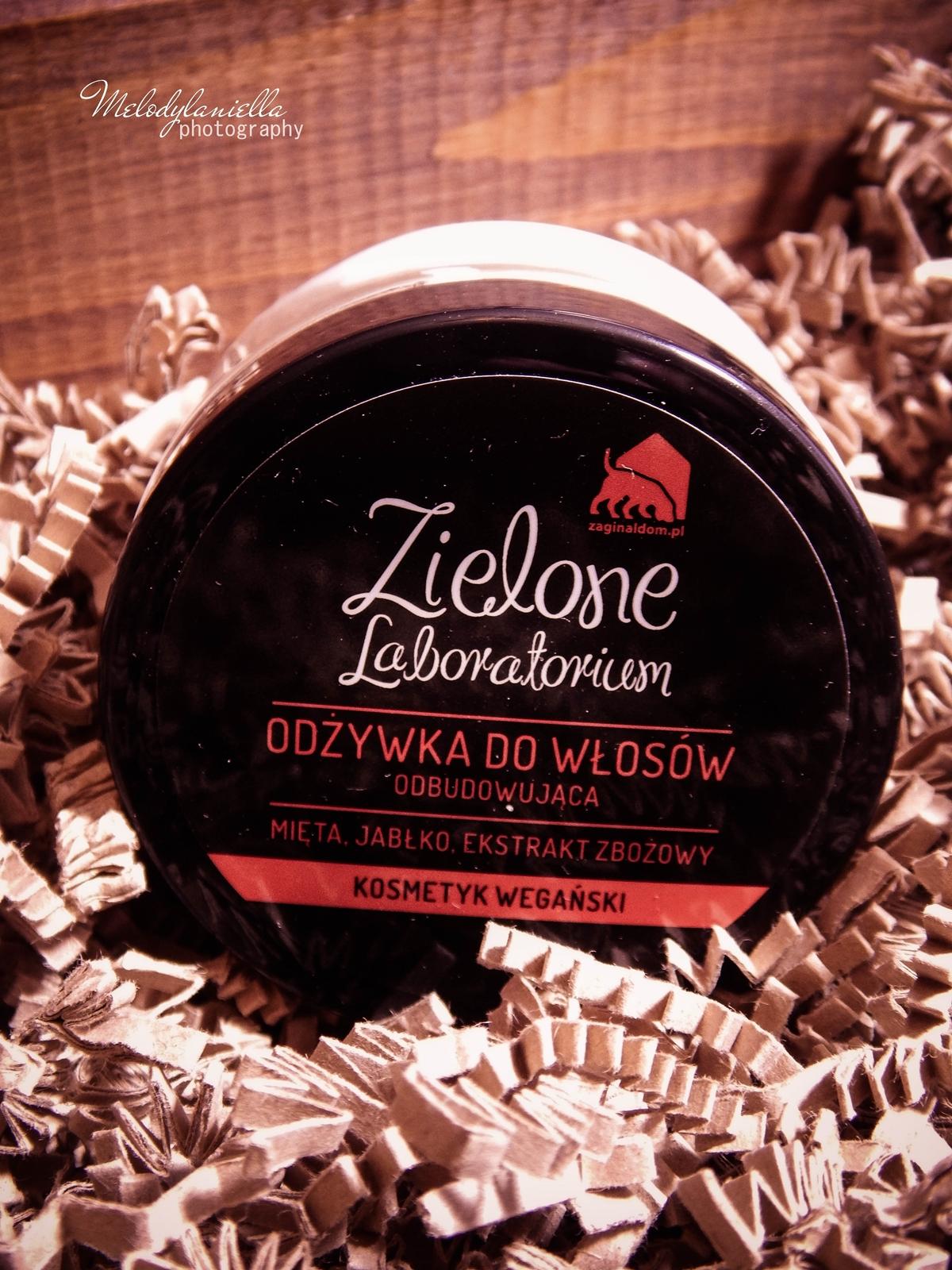 zielone laboratorium odżywka do włosów odbudowująca kosmetyki wegańskie żel do mycia szampon aromaterapeutyczny kosmetyki o mocnych zapachach olejki eteryczne kosmetyki naturalne melodylaniella mask