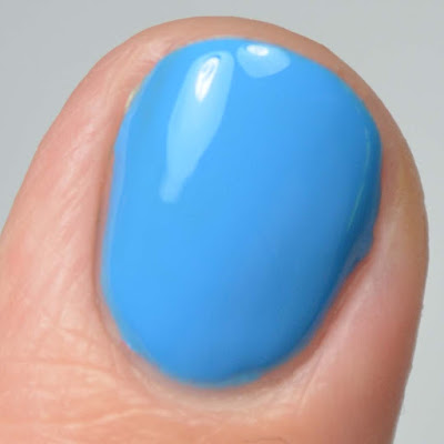 blue nail polish close up swatch