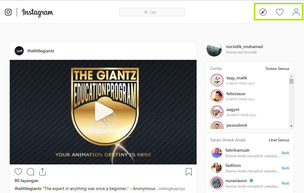Cara Melihat dan Mengirim DM (Direct Message) Instagram di