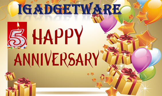 We are Celebrating iGadgetware 5th Anniversary