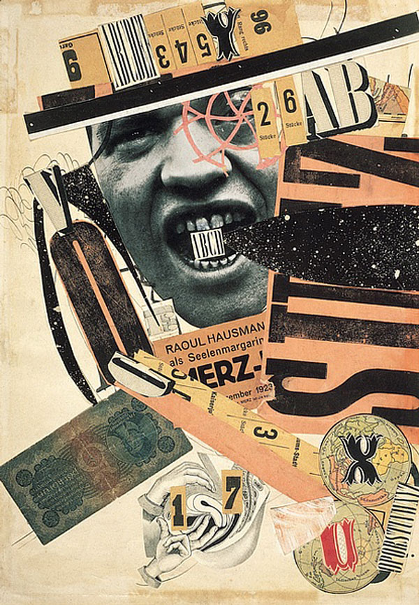 Raoul HAUSMANN, ABCD, 1923-1924, Photomontage et collage