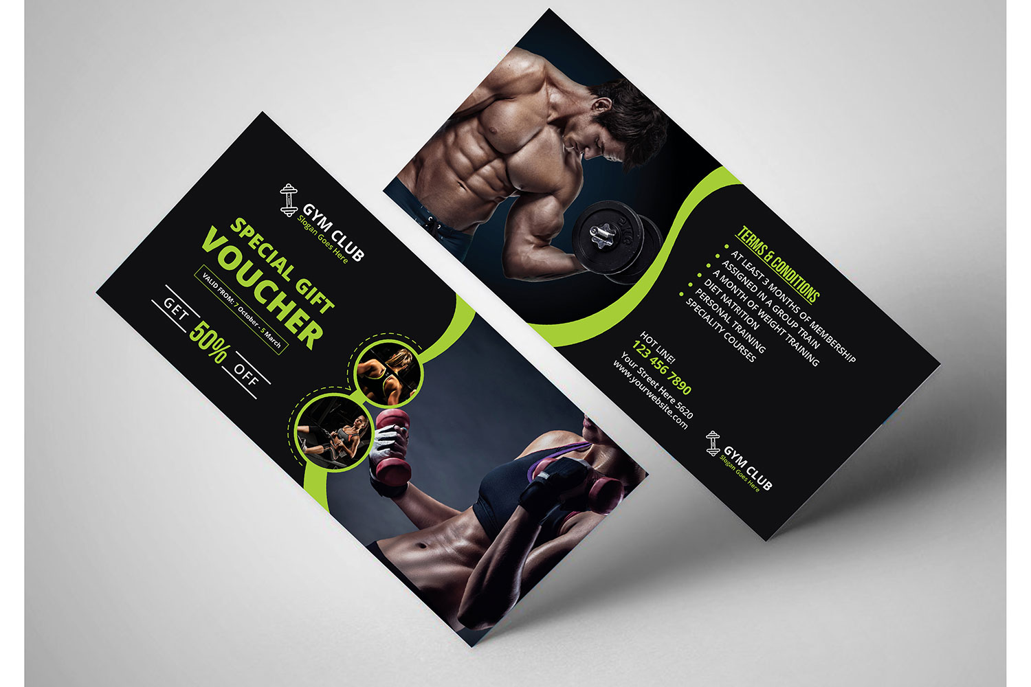 Fitness-Gym Gift Voucher Template - MaxpoinT Hridoy ...