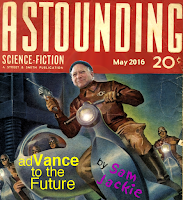 "Magazine cover: ""Advanceto the Future"" by Sam Jackie"