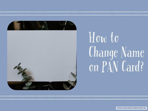 pan card apply name change